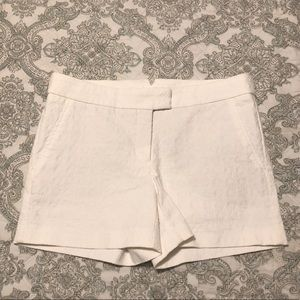 CYNTHIA ROWLEY Medallion Textured Chino Shorts
